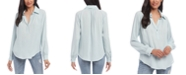 Karen Kane Split-Neck Blouse