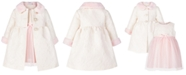 Blueberi Boulevard Baby Girls 2-Pc. Faux-Fur-Trim Coat and Dress Set