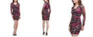 GUESS Printed Lace Stretch Sheath Dress
