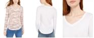 Ultra Flirt Juniors' Long-Sleeved Textured Boyfriend T-Shirt