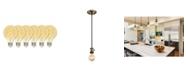 Westinghouse Lighting 5-Watt (25-Watt Equivalent) Amber G25 Dimmable Flexible Filament LED Light Bulb with Medium Base, Pack of 6