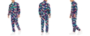 Fila Men's Retro Printed Half-Zip Fleece Top & Climbing Pants
