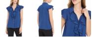 Calvin Klein Ruffled Button-Front Top