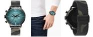 WELDER Men's Camo Stainless Steel Mesh Bracelet Watch 47mm