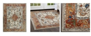 """Nicole Miller Parlin Aster Ivory 2'7"""" x 3'11"""" Area Rug"""