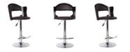 Us Pride Furniture Bobbie Adjustable Height Swivel Bar Stool