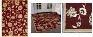"""Global Rug Designs Bridgeport Home Vision VIS08 Red 7'8"""" x 10'4"""" Area Rug"""