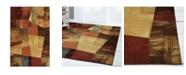 "Global Rug Designs Yorba YOR01 Brown 5'3"" x 7'2"" Area Rug"