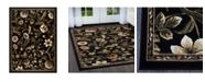 """Global Rug Designs Vision VIS01 Black 7'8"""" x 10'4"""" Area Rug"""