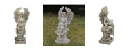 Northlight Peaceful Angel Sitting on A Pedestal Candle Holder Statue