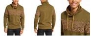 INC International Concepts INC Men's Colorblocked Cheetah Print Cowlneck Sweatshirt, Created For Macy's