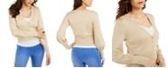 Thalia Sodi Metallic Rhinestone-Button Sweater, Created For Macy's