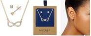 "RACHEL Rachel Roy Gold-Tone Crystal Stud Earrings & Infinity Pendant Necklace Gift Set, 16"" + 2"" extender"