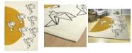 Kaleen Origami ORG02-01 Ivory 2' x 3' Area Rug