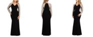 XSCAPE Plus Size V-Neck Gown