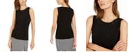Calvin Klein Embellished-Neck Sleeveless Top