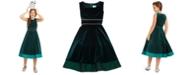 Rare Editions Big Girls Embellished Velvet Dress