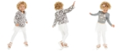 Epic Threads Little Girls Faux-Fur Jacket, T-Shirt & Tutu Leggings, Created For Macy's