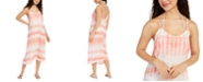 J Valdi Tie-Dyed Printed Swim Cover-Up Dress