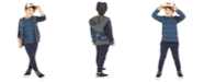 Epic Threads Little Boys Camo-Print Full-Zip Hoodie, Stripe Thermal T-Shirt & Moto Jogger Pants, Created For Macy's