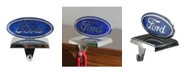 "Northlight 5"" Officially Licensed Iconic ""Ford"" Logo Silver Plated Weighted Christmas Stocking Holder"