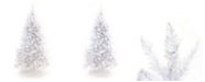 Perfect Holiday 7.5' Pre-Lit White Christmas Tree with Warm White LED Lights
