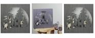 "Northlight 13.75"" Glittered Winter Woodland Deer Christmas Shadow Box Table Decoration"