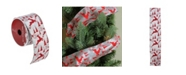 """Northlight Silver and Red Flying Reindeer Wired Christmas Craft Ribbon 2.5"""" x 10 Yards"""