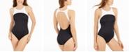 Lauren Ralph Lauren Bel-Air High-Neck One-Piece Swimsuit