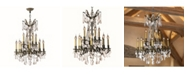 Worldwide Lighting Windsor 12-Light Antique Bronze Finish and Clear Crystal Chandelier