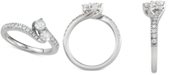 Macy's Diamond Two-Stone Engagement Ring (3/4 ct. t.w.) in 14k White Gold