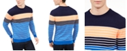 Club Room Men's Striped Crewneck Sweater, Created For Macy's
