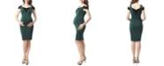 kimi + kai Taylor Maternity Cold Shoulder Body-Con Dress