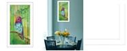 "Trendy Decor 4U Anna's Hummingbird By Lisa Morales, Printed Wall Art, Ready to hang, White Frame, 12"" x 24"""