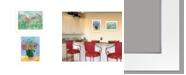 "Trendy Decor 4U Flower field/Bouquet 2-Piece Vignette by Kait Roberts, White Frame, 19"" x 15"""