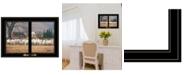 "Trendy Decor 4U Wool Gathering by Bonnie Mohr, Ready to hang Framed Print, Black Window-Style Frame, 21"" x 15"""