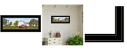 """Trendy Decor 4U Summer on the Farm by Billy Jacobs, Ready to hang Framed Print, Black Frame, 27"""" x 11"""""""