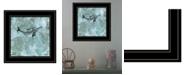 "Trendy Decor 4U Simplicity Humpback by Britt Hallowell, Ready to hang Framed Print, Black Frame, 15"" x 15"""