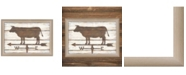 """Trendy Decor 4U Farmhouse Cow By Annie LaPoint, Printed Wall Art, Ready to hang, Beige Frame, 21"""" x 15"""""""