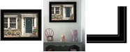 """Trendy Decor 4U Parked Out Front by John Rossini, Ready to hang Framed Print, Black Frame, 19"""" x 15"""""""