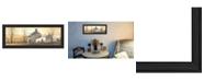 "Trendy Decor 4U Trendy Decor 4U A New Day By John Rossini, Printed Wall Art, Ready to hang, Black Frame, 21"" x 9"""