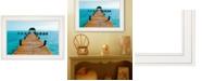 """Trendy Decor 4U Pier by John Jones, Ready to hang Framed Print, White Frame, 21"""" x 15"""""""