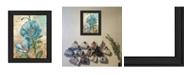 "Trendy Decor 4U Paris Blue I By Ed Wargo, Printed Wall Art, Ready to hang, Black Frame, 14"" x 18"""