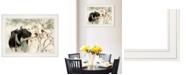 "Trendy Decor 4U The Winter Robin by Bonnie Mohr, Ready to hang Framed Print, White Frame, 19"" x 15"""