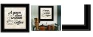 "Trendy Decor 4U Trendy Decor 4U A Silent Scream for Coffee by SUSAn Ball, Ready to hang Framed Print, Black Frame, 15"" x 15"""