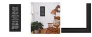 "Trendy Decor 4U House Rules By Susan Ball, Printed Wall Art, Ready to hang, Black Frame, 15"" x 39"""