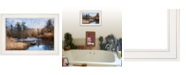 "Trendy Decor 4U Riverside by Robin-Lee Vieira, Ready to hang Framed Print, White Frame, 21"" x 15"""