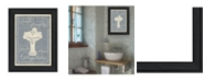 """Trendy Decor 4U Trendy Decor 4U Wash Your Hands by Misty Michelle, Ready to hang Framed Print, Black Frame, 15"""" x 19"""""""