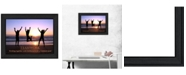 "Trendy Decor 4U Teamwork By Trendy Decor4U, Printed Wall Art, Ready to hang, Black Frame, 14"" x 10"""