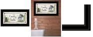 "Trendy Decor 4U Country Bath by Mary Ann June, Ready to hang Framed Print, Black Frame, 21"" x 12"""